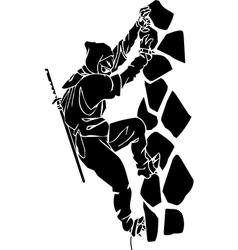 Ninja fighter - Vinyl-ready vector image
