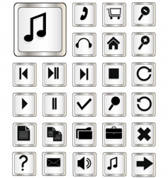 UI buttons vector image