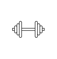 barbell line icon vector image