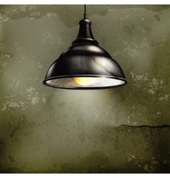 Black Lamp old-style vector image