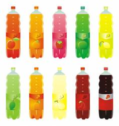 carbonated drink bottles vector image vector image
