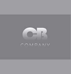 Cb c b pastel blue letter combination logo icon vector