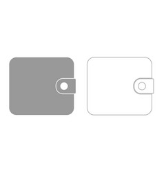 Change purse grey set icon vector