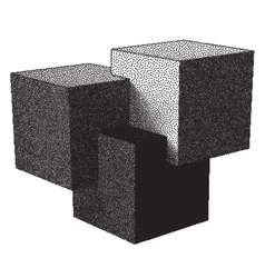 Cubes and dotwork gradient vector image vector image