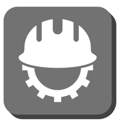 Development hardhat rounded square icon vector