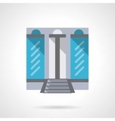 Fashion store flat color design icon vector image