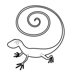 Fast lizard icon outline style vector