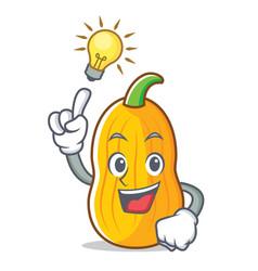 Have an idea butternut squash mascot cartoon vector