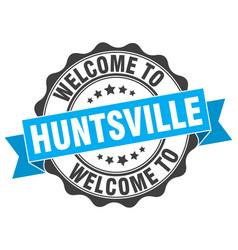 Huntsville round ribbon seal vector