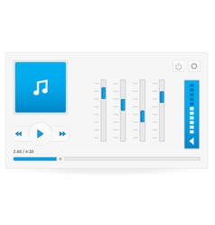 Music player 7 vector image