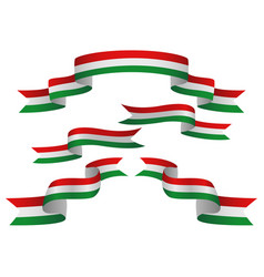 Set of hungary insignia in different shape of vector