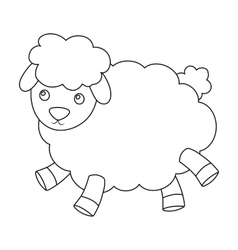 Toy sheep icon in outline style isolated on white vector image vector image