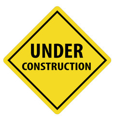 Under construction icon on white background under vector