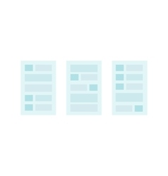 User interface templates vector