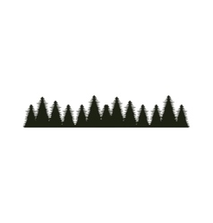 Forest tree landscape vector