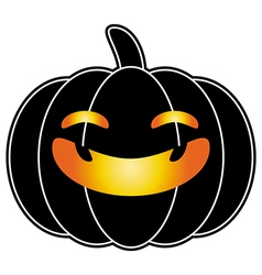 Halloween pumpkin black cartoon logo isolated vector