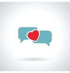 speech bubble heart vector image