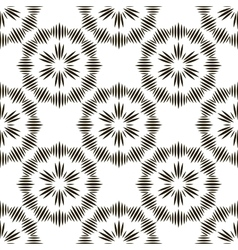 Geometric repeating ornament with black vector