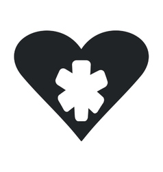 Healthy heart symbol isolated icon vector