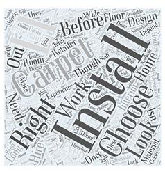 Installing carpet word cloud concept vector