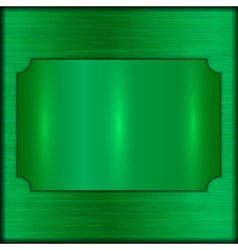 Abstract brushed green award plate vector
