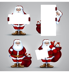 Santa christmas design vector
