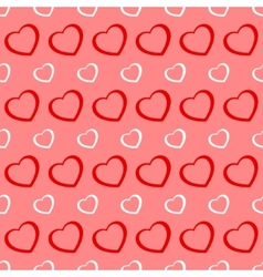 Pink and red hearts seamless valentine background vector