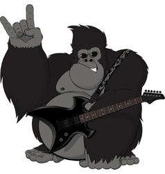 Monkey with a guitar vector