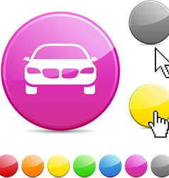 Car glossy button vector