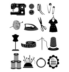 Sewing icons set vector