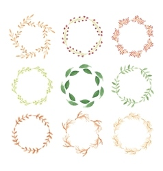 Watercolor wreaths vector