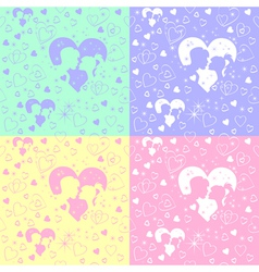 valentines day silhouettes vector image