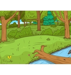 Forest cartoon educational game llustration vector image