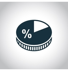 Business pie chart icon vector