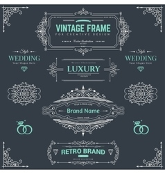 Design collection of vintage patterns vector image