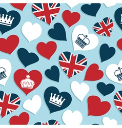 Uk hearts pattern vector