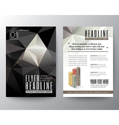 Abstract black triangle geometric brochure flyer vector
