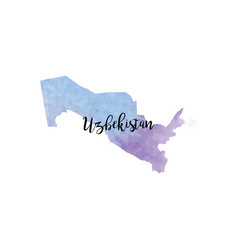 Abstract uzbekistan map vector