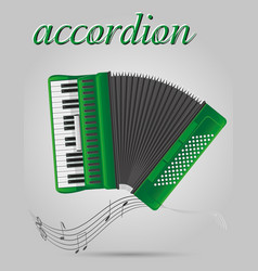 accordion musical instruments stock vector image vector image