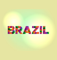 Brazil concept colorful word art vector