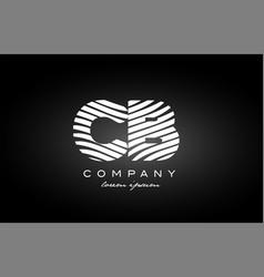 Cb c b letter alphabet logo black white icon vector