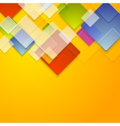 Colorful glass squares abstract background vector
