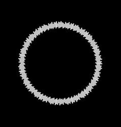 equalizer music sound wave circle symbol vector image