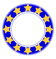 European union symbol in a blue ring vector