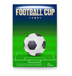 football cup poster template with place for vector image vector image