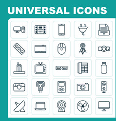 Gadget icons set collection of control device vector