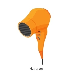 Hair dryers in a beauty salon isometric vector
