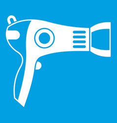 Hairdryer icon white vector