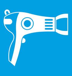 hairdryer icon white vector image
