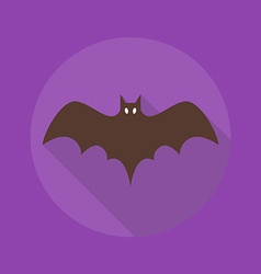 Halloween flat icon bat vector